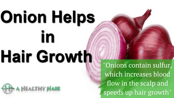 onion can cure hair loss
