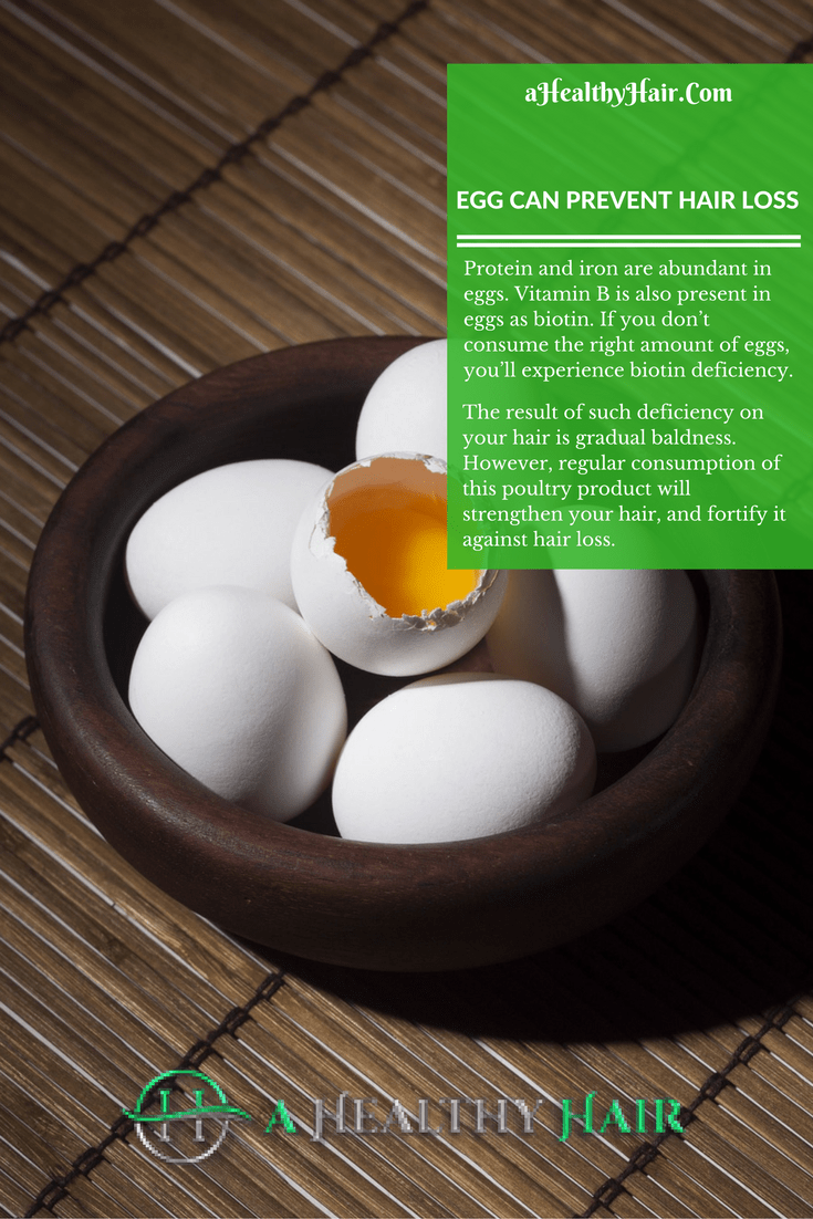 egg can prevent hair loss
