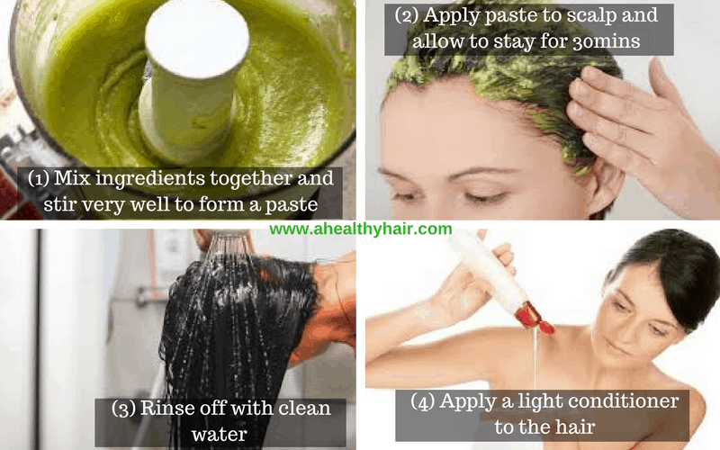 steps-to-applying-avocadoraw-eggolive-oil-and-honey-paste-to-hair